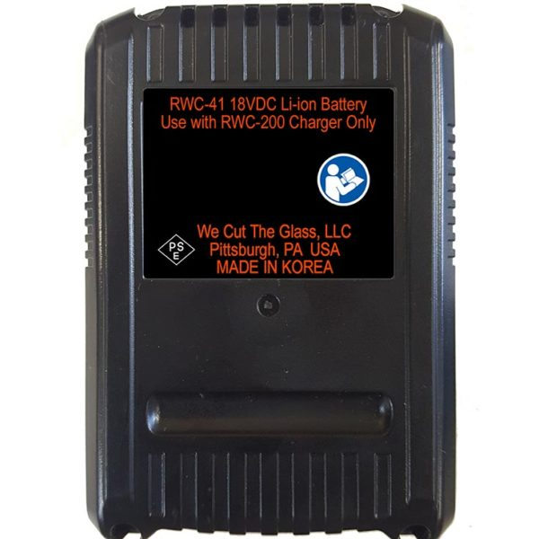 RWC-41 18V-5.0 Ah Battery Pack - bottom
